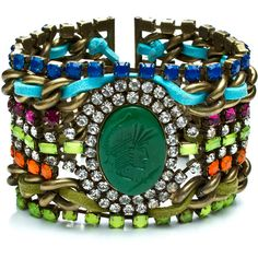 Just so much cool stuff going on with this bracelet!