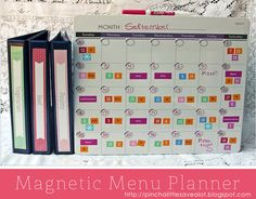 Love this idea, and I SO need to try this! It will help me save money and eat healthier!! - Pinch A Little Save-A-Lot: Recipe Binders & Magnetic Menu Planner