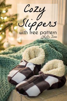 Sew Slippers - a Free Pattern and Video Tutorial to make these DIY Slippers for Men, Women, or Kids - Melly Sews