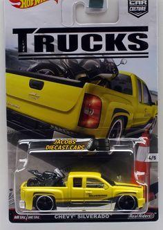 1:64 HOT WHEELS CAR CULTURE TRUCKS SERIES - CHEVY SILVERADO w/ Motorcycle #HotWheels #Chevrolet