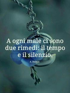 """From """"Recovery in Italian: The Virtue of Wisdom,"""" Alexandre Dumas. Translation:""""There are two remedies for every evil: time and silence. Italian Phrases, Italian Quotes, Memories Quotes, Motivational Messages, Flower Quotes, Interesting Quotes, Book Club Books, Spiritual Quotes, Sentences"""
