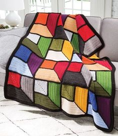 Crochet Afghan Patterns - 4 easy-to-stitch afghans are all made using worsted-weight yarn. Crochet Afghans, Annie's Crochet, Manta Crochet, Crochet World, Crochet Hooks, Blanket Crochet, Double Crochet, Single Crochet, Easy Crochet