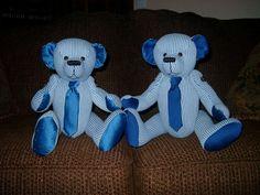 Memory Bear made from sentimental clothing by BearsandBuddies, $25.00