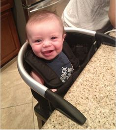 Don't use a traditional high chair. | 25 Hacks To Make Room For A Baby In Your Tiny Home