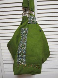 Olive Green Handbag and Messenger Bag by VirginiaBlueCouture, $46.00