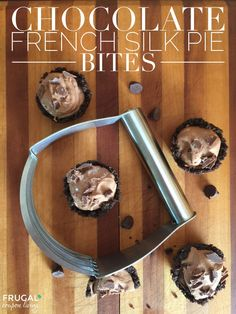 Chocolate French Silk Pie Bites on Frugal Coupon Living. These dessert bites are DELICIOUS!