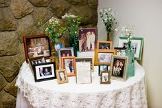 The history table Wedding In The Woods, Our Wedding, History, Frame, Table, Photography, Home Decor, Forest Wedding, Homemade Home Decor
