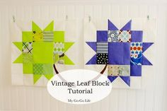 Looking for your next project? You're going to love Vintage Leaf Quilt Block  by designer Gogokim.