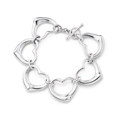 BOX SALE,OMG! You can buy this Tiffany Elegant Continuous Heart Bracelet now. It never happened.