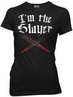 Buffy the Vampire Slayer I'm the Slayer Womens T-Shirt