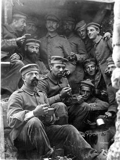Germany. German solders in a trench during WWI