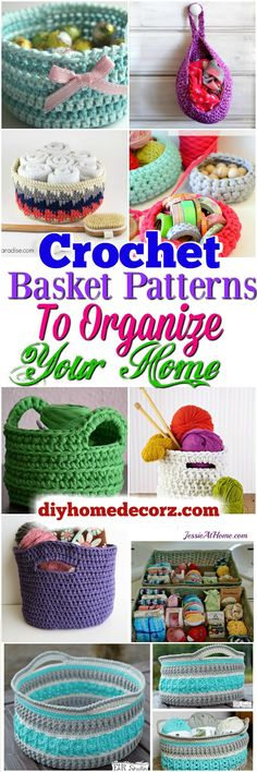 Crochet Basket Patterns Crochet Basket Patterns To Organize Your Home