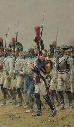 Military Art, Military History, Military Uniforms, Edouard Detaille, Napoleon French, Empire, French Pictures, Warrior Paint, Seven Years' War