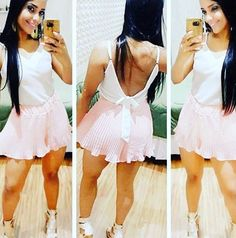 zpr ✔️Sucesso 😍😍 Blusa 🎀 P M e G (cores branca ,rosa e preta) Saia somente preta ______________ Vendas pelo WhatsApp 📲(31)9.9922-5618 📦 Enviamos para todo o Brasil 💳Cartão de débito , crédito até 3x e à vista #moda #barreiro #fashion  #lookdivo #modafeminina #lookfeminino #inverno2016 #ecommerce #lookdia #estilo #chic #modinha #varejo #coleçãoprimaveraverão2016🌺 #autoestima #feirashopbarreiro #feiramixbarreiro