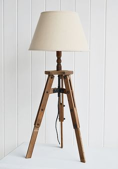 Tripod Linen Lamp  From the white lighthouse