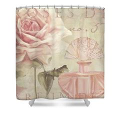Parfum de Roses I Shower Curtain by Mindy Sommers