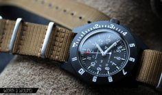 Marathon Military Navigator Quartz Date (Wish they'd go back to steel case! Marathon Watch, Tactical Watch, Nato Strap, Vintage Rolex, Quartz Watch, Chronograph, Dating, Military, Watches