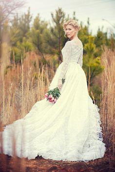 Vintage 50s Sweet Katarina Lace tulle Wedding Dress. 1950 Wedding dress. Bridal Gown. Size small.. $350.00, via Etsy.