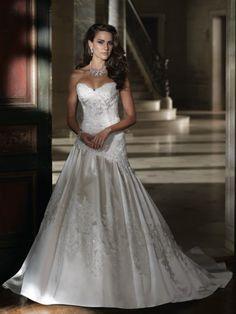 "What a stunning wedding dress! ""Kari"" Style No. 213240 »David Tutera for Mon Cheri"