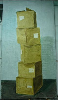 Zhang Enli, Five Boxes 5 Contour Drawing, Ink Painting, Artist At Work, Ikon, Contemporary Art, Objects, Fine Art, Drawings, Circles