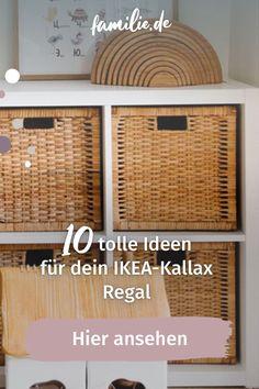 Zu den absoluten Topsellern des schwedischen Möbelhauses gehört das Ikea Kallax-Regal. Wem das schlichte Regal etwas zu langweilig ist, für den kommen hier zehn überraschende Kallax-Hacks! Ikea Kallax Hack, Ikea Kallax Regal, Laundry Basket, Wicker, Organization, Interior, Nova, Diy, Home Decor