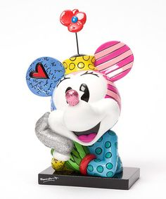 Look what I found on #zulily! Disney by Britto Minnie Mouse Pop Art Bust #zulilyfinds