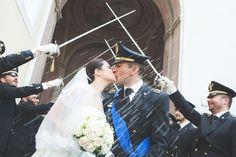 #matrimonio #esercito #bacio #spade #sposa