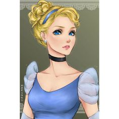 I Draw Disney Princesses As Anime Characters ❤ liked on Polyvore featuring disney