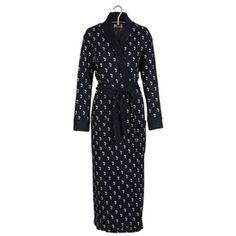 PLUTO ON THE MOON Robe de chambre imprimée en coton Bleu