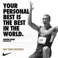 How will you find your greatness? Ashton Eaton quote.