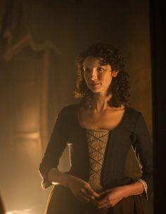 "Claire Randall (Caitriona Balfe) in Outlander on Starz | Episode 105 ""Rent"" via Yahoo"