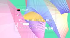 Credit Card - These Creacarte contest entries revamp a traditional credit card design with bold visuals that are created using Dataveyes software. The branding p. Paypal Gift Card, Visa Gift Card, Card Ui, Credit Card Design, Member Card, Atm Card, Plastic Card, Plate Design, Graphic Design Illustration