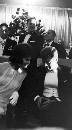 """JFK and Jackie.....""""WAKE UP HONEY - YOU'RE SNORING""""................ccp"""