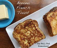 Banana French Toast  grain-free, gluten-free, dairy-free