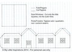 My Little Inspirations: {Handmade Christmas} - Paper House Lanterns Tutorial