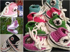 Converse Baby Booties Free Crochet Pattern