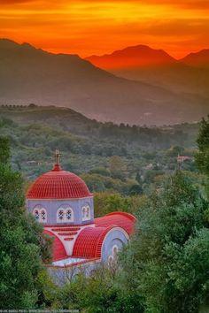 The church at Spili, Crete / Kreta Greece / Grekland Beautiful World, Beautiful Places, Crete Island, Virtual Travel, Creta, Place Of Worship, Kirchen, Greek Islands, Greece Travel