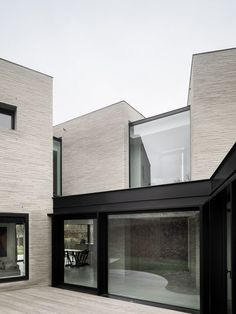 Graux & Baeyens designs three brick volumes to form Belgian house with wetland views haus Graux & Baeyens designs three brick volumes to form Belgian house with wetland views on Architecture Résidentielle, Contemporary Architecture, Amazing Architecture, Brick Facade, Facade House, Facade Design, House Design, Small Buildings, New Homes
