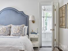 House Tour: 1920's Brookhaven Home Renovation - Design Chic Farm Bedroom, Home Bedroom, Beautiful Bedrooms, Beautiful Homes, Guest Bedrooms, Beach Bedrooms, Master Bedrooms, Master Bath, Guest Room
