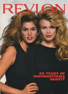 Young Cindy Crawford & Claudia Schiffer (3122 x 4311) #revlon
