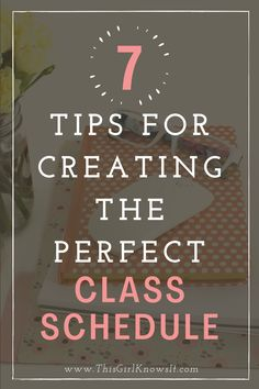 With the next semester around the corner, it will soon be time to begin scheduling college classes. There are several steps you should take before scheduling classes to make sure you have the best class schedule for your semester. This post highlights 7 tips for creating the perfect class schedule! | This Girl Knows It | www.thisgirlknowsit.com | #college #university #student #collegeclass #collegeschedule #education