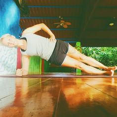 Sideplank is a good possibility to work on your #core and hip #stability...and even on your #patience and endurance  find your position focus on your breath hold and let time run  find more exercises on trainerella.com #planking #fitnessfun #personaltrainer #getinspired #getmotivated #challange
