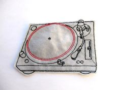 Turntable Patch Applique iron on and sew on patch