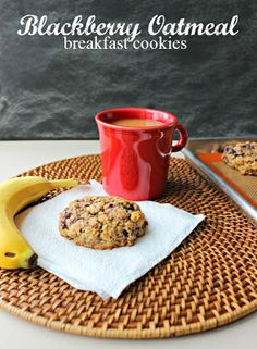 Blackberry Oatmeal Breakfast Cookies - My Kitchen Adventures