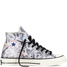dfb66e3e801f70 Chuck Taylor All Star  70 Hawaiian Print - Black - Hi Top Allstar-schuhe