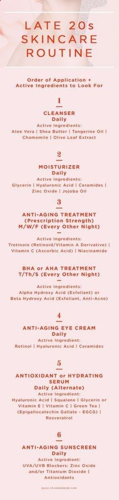Food for Younger Skin - Late 20s skin care routine | Order of application   active ingredients to look for | skin care tips | anti-aging | Click through to read more   get my product recommendations! | Meroe —Design Studio www.studiomeroe.com I have spent over 10 years researching every natural trick in the book that allows women like us to look as if we are aging backwards... and I wrote this letter to share what I discovered with you today...