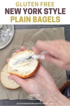 Craving some authentic New York style, chewy bagels? Look no further because this recipe is the next best thing to going to a bagel shop in NYC, plus these bagels are gluten free! These homemade plain bagels are boiled and then baked and require no fancy ingredients! #glutenfreebagels #newyorkbagels #plainbagels #homemadebagels