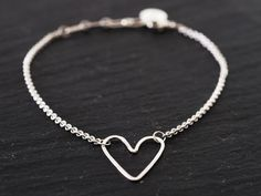 Sterling Silver Heart Bracelet by Zoe Chicco