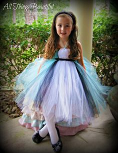 Alice In Wonderland Inspired Tutu Dress  Halloween Costume Size 4/5-10/12 youth. $64.99, via Etsy.
