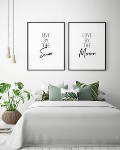 Life from the Sun, Love from the Moon Printable Art (Set of - Sun and Moon Prints, Sleep . - Life from the Sun, Love from the Moon Printable Art (Set of – Sun and Moon Prints, Bedroom Dec - Black And White Artwork, White Wall Art, Black White, Bedroom Prints, Bedroom Decor, Wall Art For Bedroom, 50s Bedroom, Bedroom Artwork, Bedroom Signs